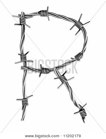 Barbed Wire Alphabet, R