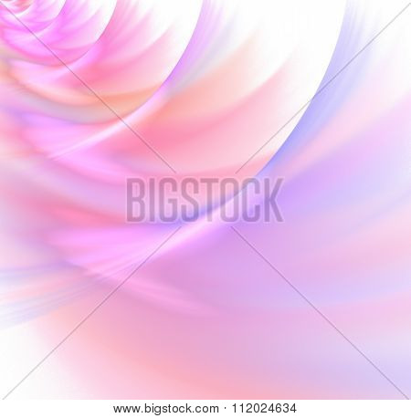 Abstract White Background With Rainbow Colored - Pink, Rose, Purple, Magenta, Orange, Red - Pastel W