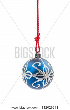 Christmas Bauble Hanging On A String