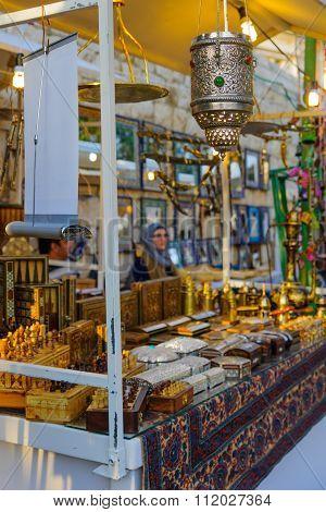 Christmas Market Scene, Nazareth