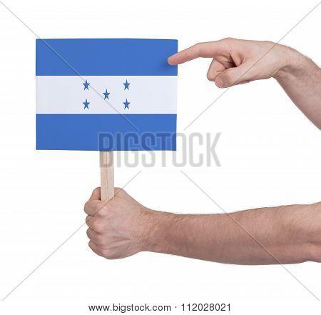 Hand Holding Small Card - Flag Of Honduras