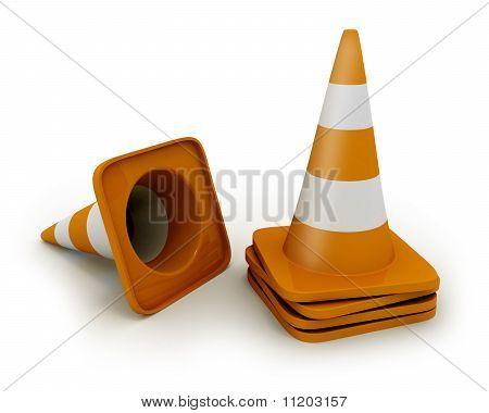 Alguns Cones de estrada