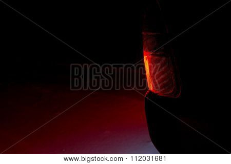 Car Headlight Snow Red
