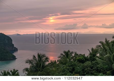 Sunset On Phi Phi Don Island,  Thailand