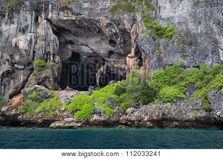 Viking Cave On Phi Phi Lee Island,  Thailand