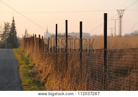 fence at the road