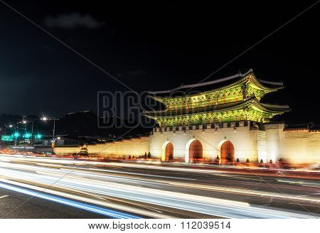 Gyeongbok Palace Taken At Night