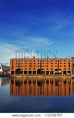The Albert Dock In Liverpool Uk On A Beautiful Sunny Day