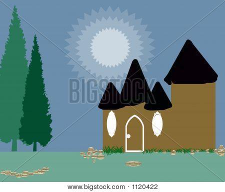 Forest Cottage Illlustration