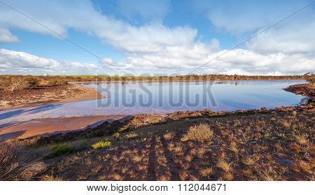 Pink Salt Lake Hardy Panorama, Australia