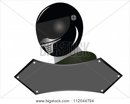 the black helmet