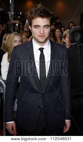 WESTWOOD, CALIFORNIA - November 16, 2009. Robert Pattinson at the Los Angeles premiere of