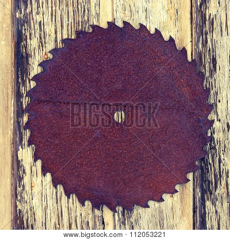 The Old Saw On Wooden Texture