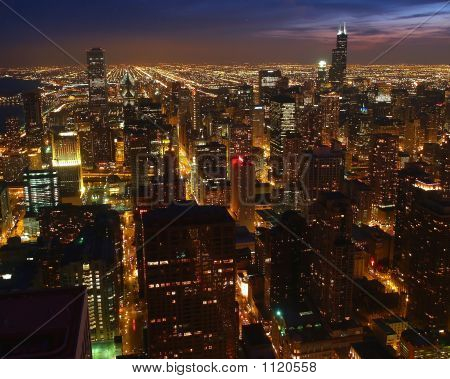 A Aerial View Of The Chicago