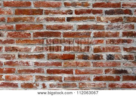 Brickwork And Gray Mortar. Backgrounds And Textures