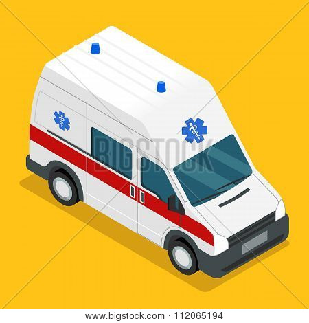 isometric ambulance carv emergency medical van