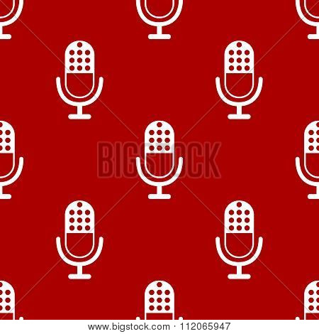 Microphone icon pattern