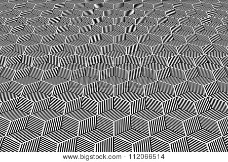 Abstract geometric background. Op art pattern. Vector art.