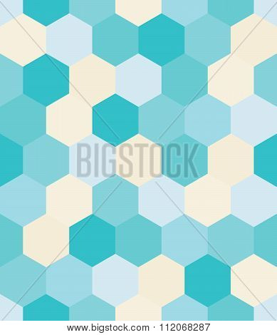 Vector modern seamless colorful geometry hex pattern color abstract