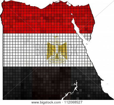 Egypt Map With Flag Inside.eps