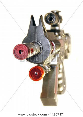 Pistol, A Toy For Children Isolated On White Background