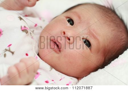 Japanese new born baby girl (0 year old)