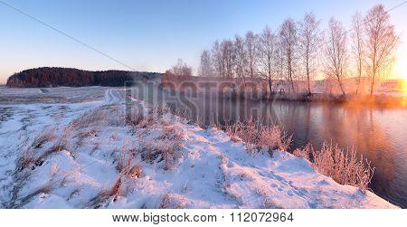 Cold winter dawn