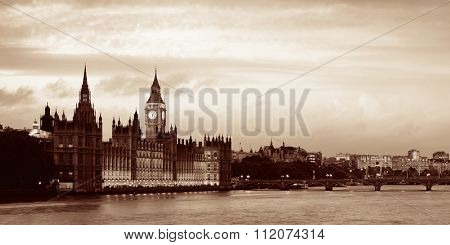 Westminster with House of Parliament, London.