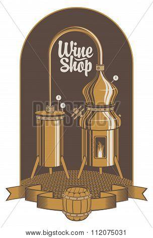 Banner For Wine Shop