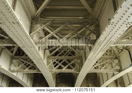 Underside of a bridge
