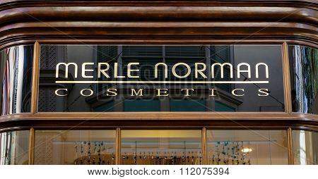 Merle Norman Cosmetics Exterior And  Logo