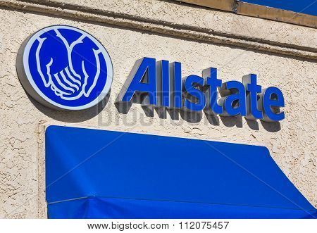 Allstate Insurance Sign  And Logo