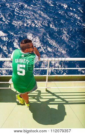 Boy Looking The Sea