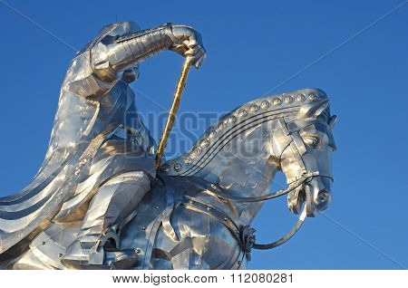 Tsonjin Boldog, MN-Dec,03 2015: Genghis Khan Equestrian Statue