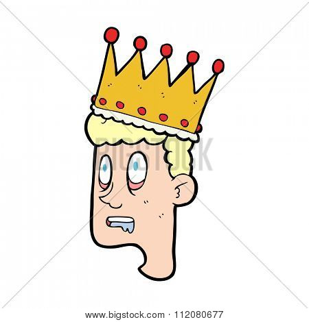 freehand drawn cartoon idiot prince
