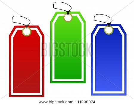 Set Of Paper Tags