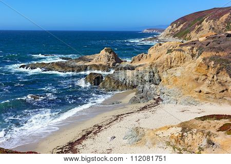 Scenic view on Pacific coastal line California USA.