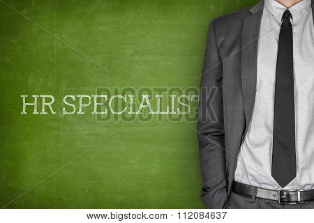 HR specialist on blackboard