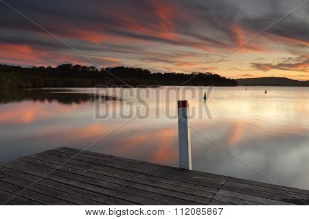 Amazing Sunset Colours And Reflections From The Timber Jetty