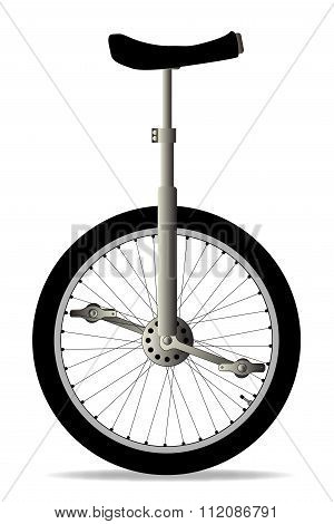 Unicycle On White