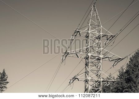 Big Iron Mast Or Pylon Of A Power Line