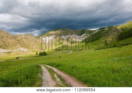 Mountain Valley Meadow Road Clouds