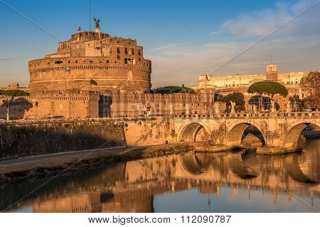 Rome, Italy: Mausoleum of Hadrian or Castle of the Holy Angel