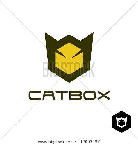 Geometric Cat Head Logo Idea