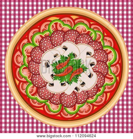 Pizza Assorted Tomato Salami