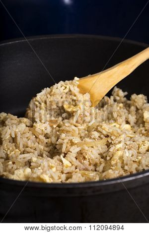 Fried Rice With Yolk And Onion