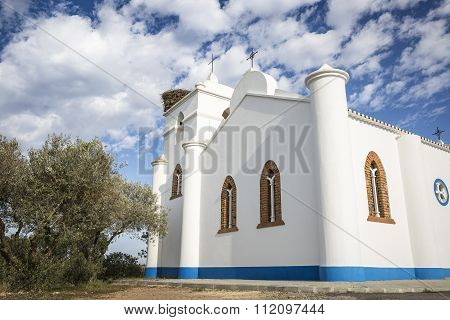 Parish church in Vale de Açor de Cima, Mértola, Portugal