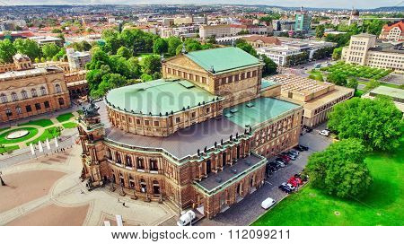 Semperoper Is The Opera House Of The Sachsische Staatsoper Dresden (saxon State Opera) And The Conce