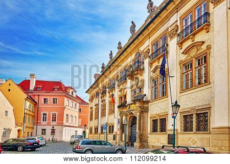 Ministry Of Culture Of The Czech Republic. Quarters And Streets On  Prague's Mala Strana(lesser Town