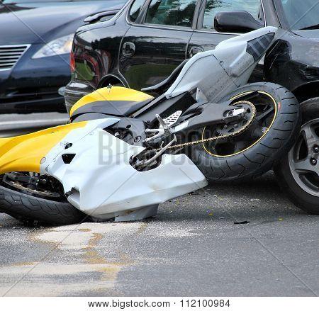 Motorbike accident.